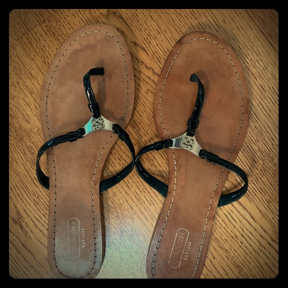 Coach Shoes - Coach flip flop sandals
